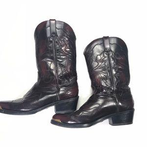 Durango Cherry Rodeo Leather Cowboy Boots Sz 9EE